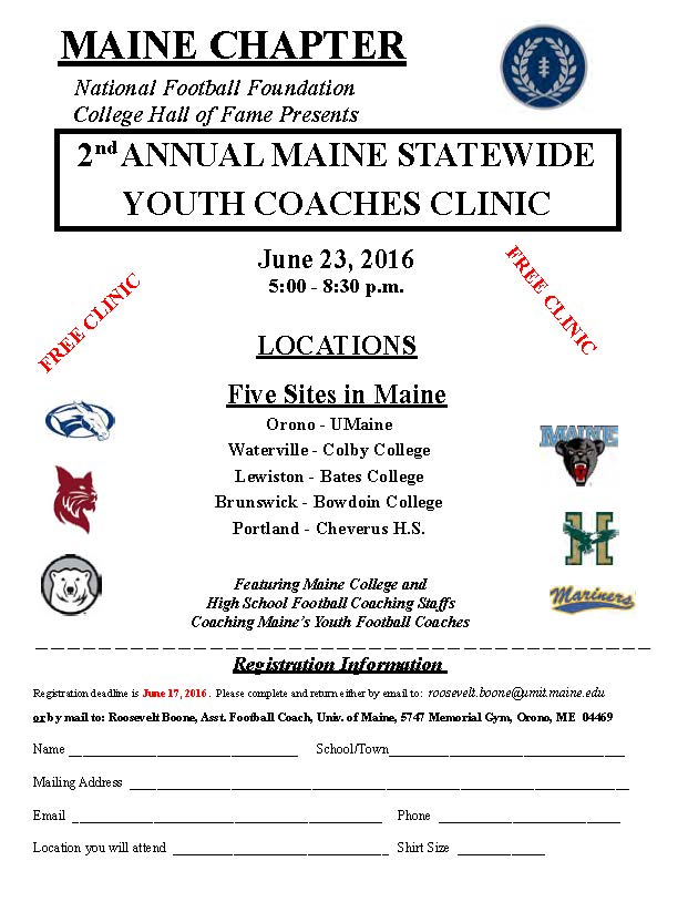2016 2ND ANNUAL NFFCHF YOUTH FOOTBALL COACHES CLINIC | Maine ...